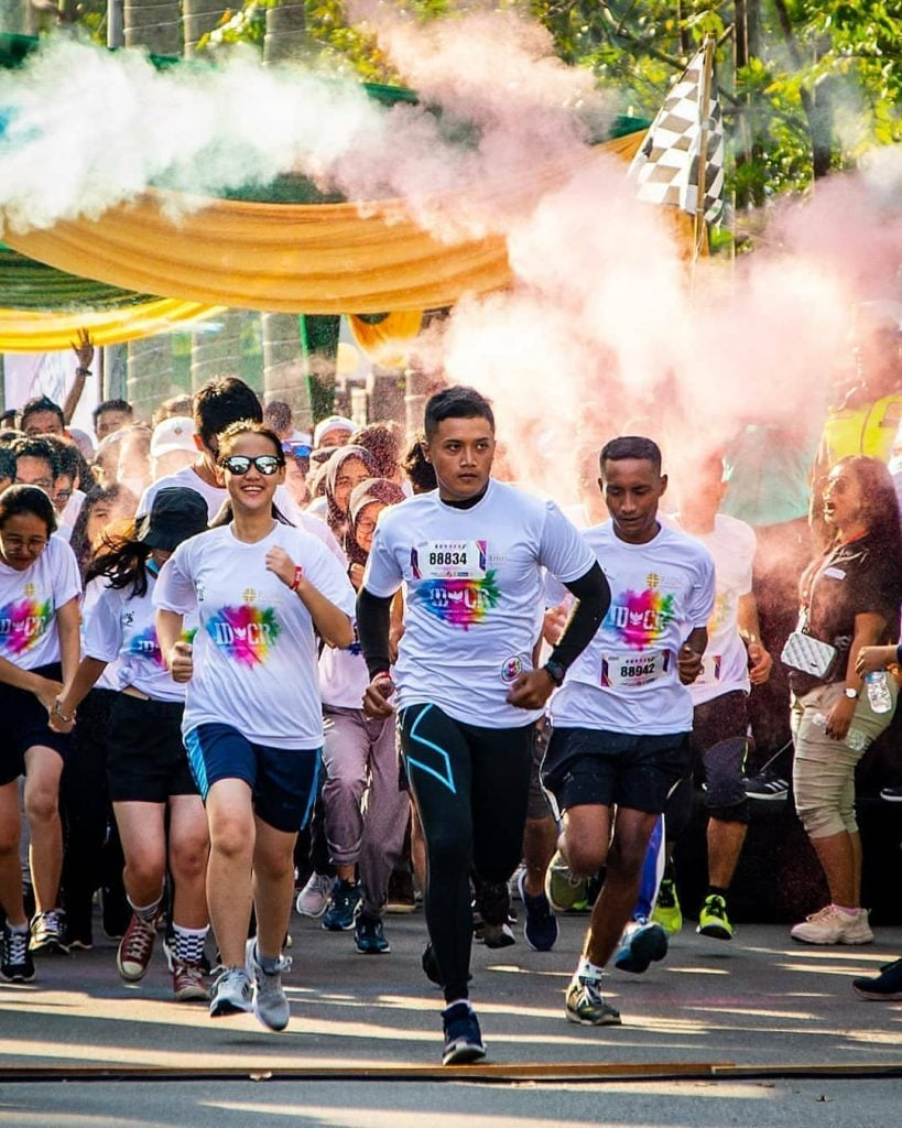 Indonesia Color Run, Event Olahraga Lari dengan Nuansa Warna-Warni Colourful yang seru di Jakarta