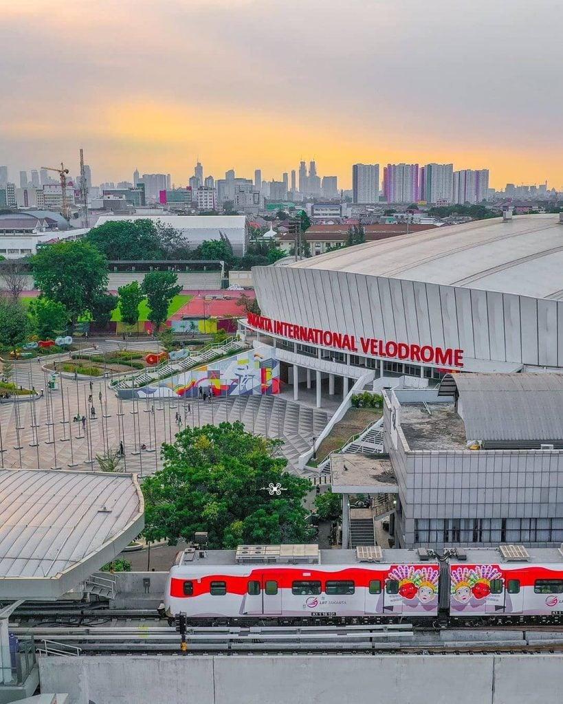 Jakarta International Velodrome lapangan dan tempat olahraga venue Asian Games yang cocok untuk kencan dan pacaran di Jakarta