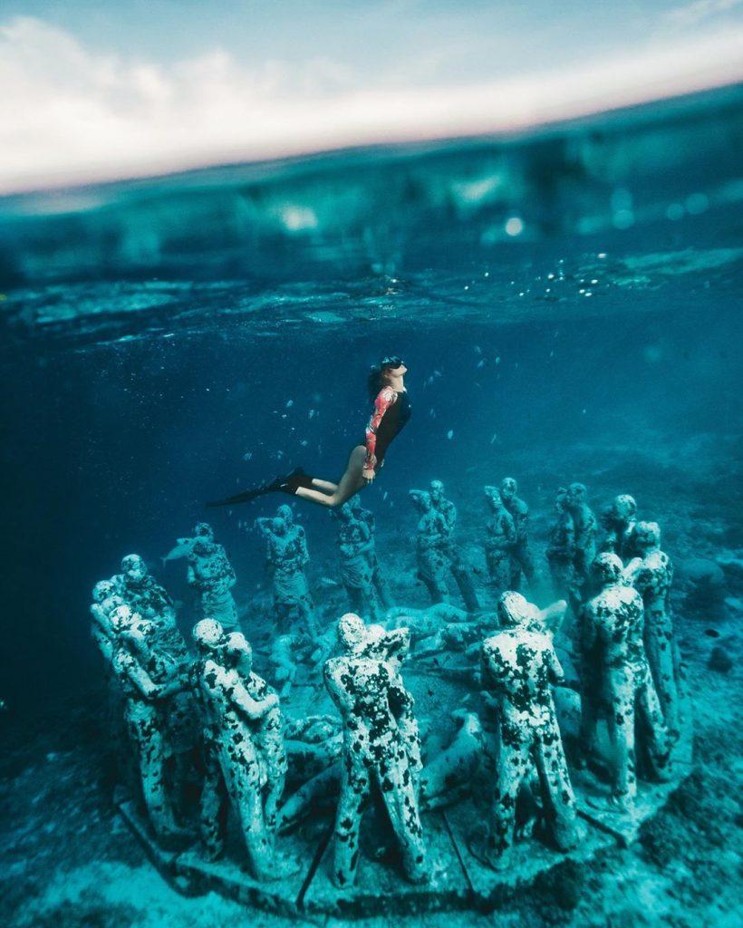 Snorkeling menikmati Underwater Nest di Gili Meno