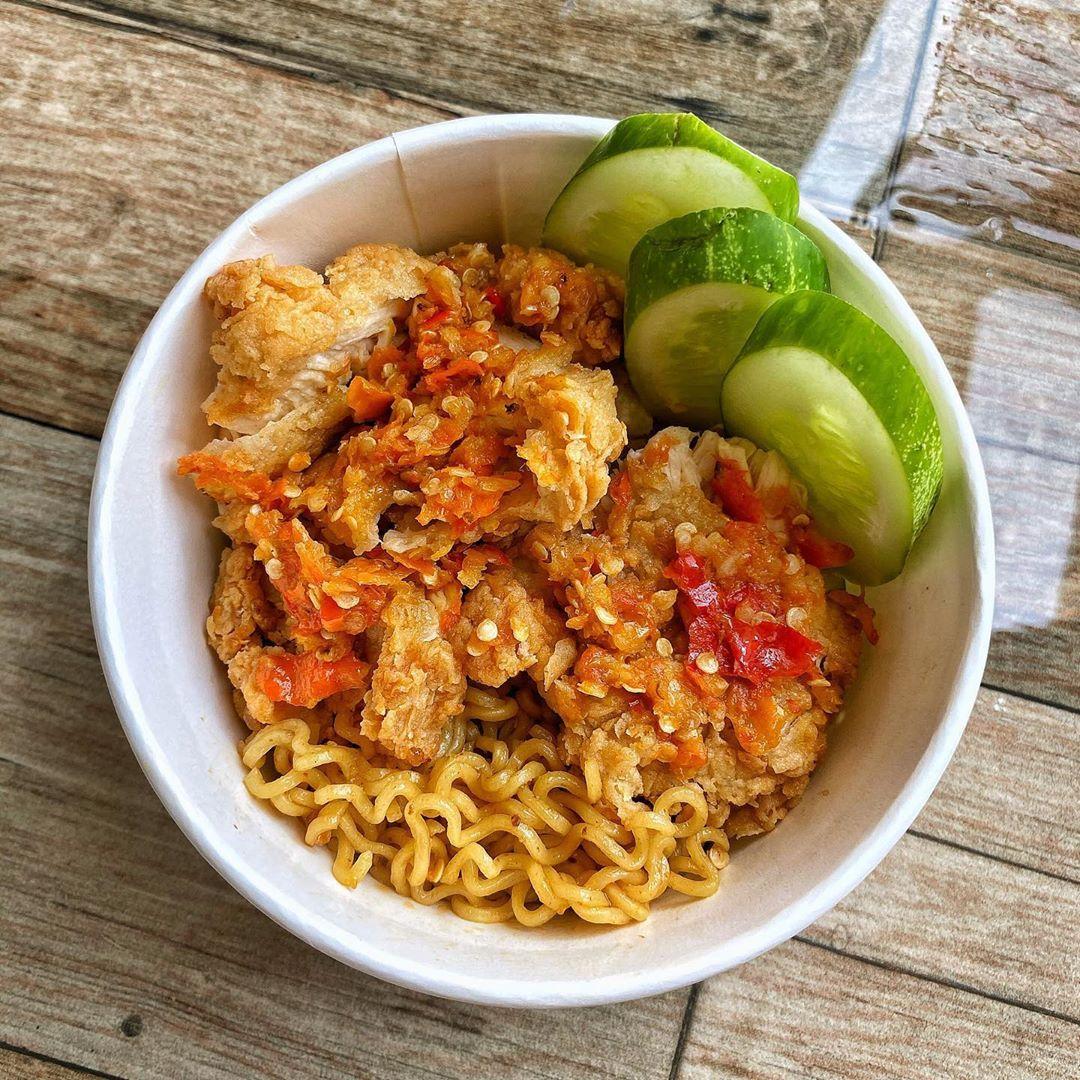 Resep Indomie Ayam Geprek Super Pedas